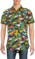Multicolored Camo-Print Polo Shirt