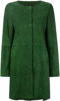 Herno single breasted coat - women - Lamb Skin/Acetate/Polyester - 44
