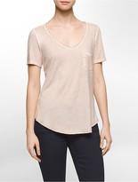 Calvin Klein Raw-Edged Garment-Dyed Tee