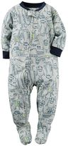 Carter's Toddler Boy Printed Footed Pajamas