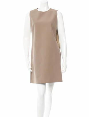 Gabriele Colangelo Drape Accented Dress w/ Tags Beige