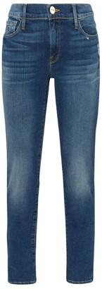 Frame Le Garcon Azure Straight Jeans