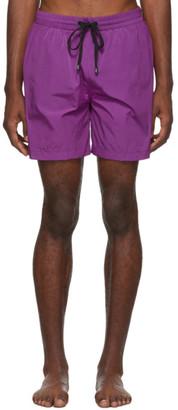 Everest Isles Purple ECONYL Obsidian 15 Swimmer Swim Shorts