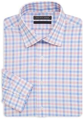 Saks Fifth Avenue Windowpane Cotton Dress Shirt