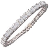 Platinum Step Cut Diamond Bracelet