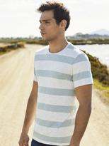 Jeanswest Guy Short Sleeve Stripe Crew Tee-Oxide Red Multi-S