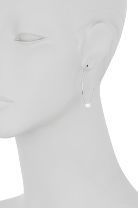 Argentovivo Sterling Silver CZ Hoop Earrings