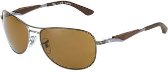 Ray-Ban Rounded Metal Aviator Sunglasses