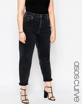 Asos Farleigh Mom Jeans in Washed Black