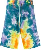 Ripndip drawstring tie-dye shorts