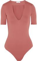 Alix - Ludlow Stretch-jersey Bodysuit - Antique rose