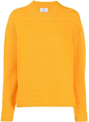 Allude Ribbed Knit Sweatshirt