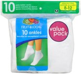 Fruit of the Loom Women's Plus-Size FTL 10 Pack Ankle Plus