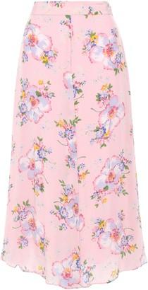 By Ti Mo Floral-print Mousseline Midi Skirt