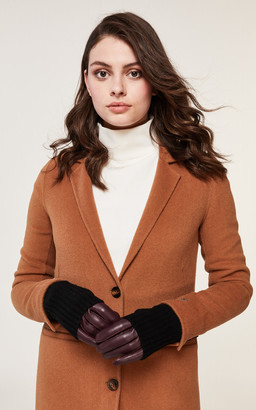 Soia & Kyo CARMEL leather gloves with knit lining