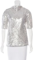 Diane von Furstenberg Mako Sequined Top