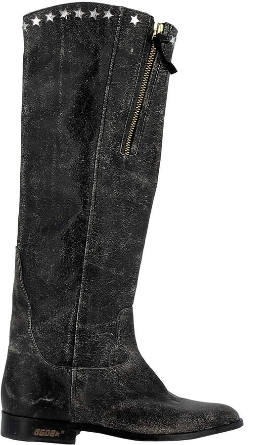 Golden Goose Black Leather Boots
