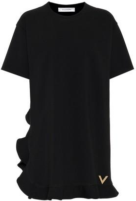 Valentino Ruffled stretch knit minidress