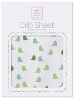 Swaddle Designs Little Chickies Flannel Fitted Crib Sheet