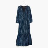 Madewell Silk Medallion Dot Maxi Dress