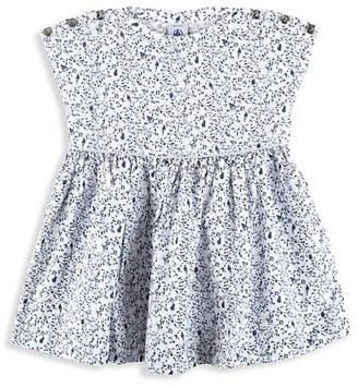Petit Bateau Baby Girl's Bird Print Dress