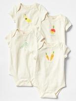Organic cotton printed bodysuit (4-pack)