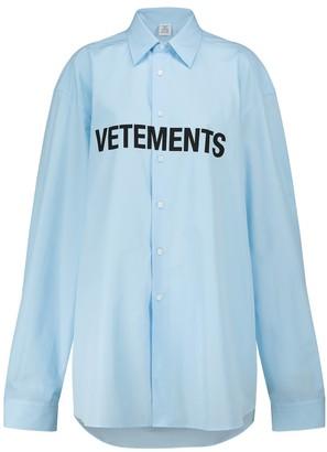Vetements Logo cotton shirt