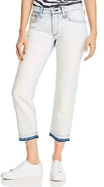 Rag & Bone Rosa Cotton Released Hem Boyfriend Jeans in Desert White