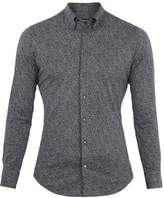 Giorgio Armani Point-collar Speckle-print Cotton Shirt