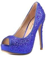 Lauren Lorraine Candy Women Peep-toe Synthetic Heels.