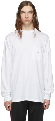 South2 West8 White Mock Neck Long Sleeve T-Shirt