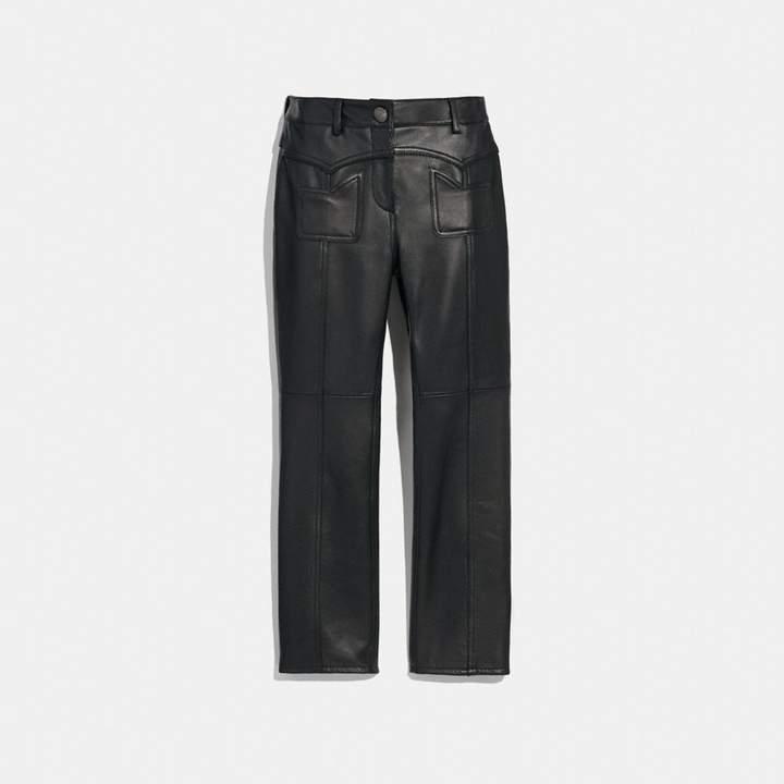 Coach Leather Pants