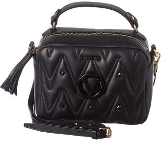 Mario Valentino Valentino By Boulette D Sauvage Studs Leather Shoulder Bag