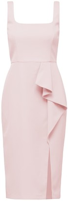 Forever New Emily Square Neck Midi Dress - Formica Pink - 10