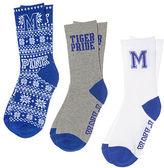 PINK University Of Memphis 3-Pack Crew Socks