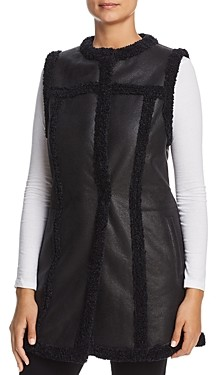 Nic+Zoe Drama Long Faux-Leather Vest