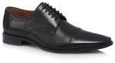Jeff Banks Black Leather Brogues