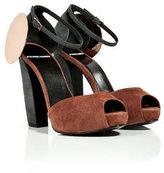 Pierre Hardy Suede Block Heel Sandal