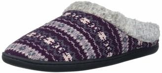 Dearfoams Women's Sweater Knit Clog with Memory Foam Slipper