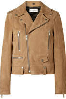 Saint Laurent Perfecto Distressed Leather Biker Jacket - Taupe