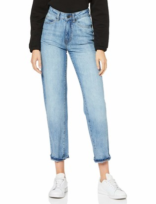 Urban Classics Women's Ladies High Waist Straight Jeans Trouser