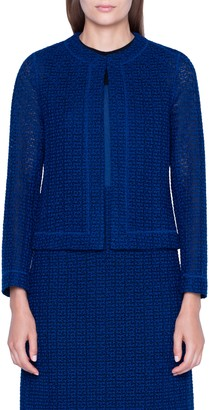 Akris St. Gallen Embroidered Cotton Blend Jacket