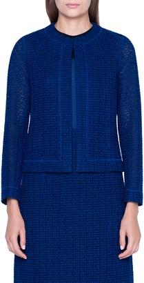 Akris St. Gallen Embroidered Cotton Blend Jacket
