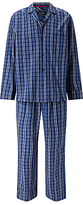 John Lewis Gurgaon Check Cotton Poplin Pyjamas, Blue