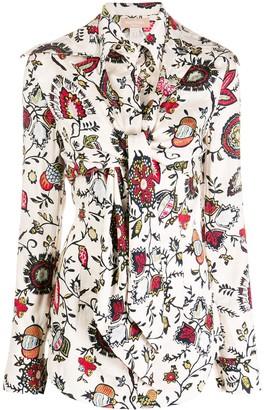 MATÉRIEL Floral Print Layered Shirt