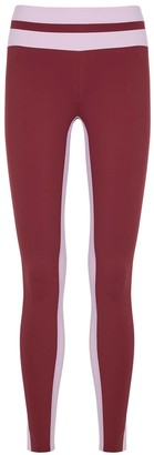 Vaara Flo Tuxedo Red Stretch-jersey Leggings
