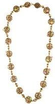 Versace Textured Bead Necklace