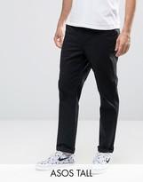 Asos Tall Straight Chinos In Black
