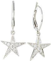 Penny Preville 18k White Gold Pave Diamond Star Drop Earrings