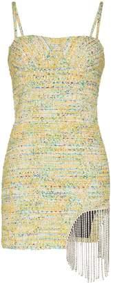 Area crystal-trimmed tweed mini dress